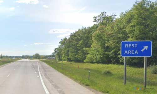 mi interstate 69 michigan i69 capac rest area mile marker 174 westbound off ramp exit
