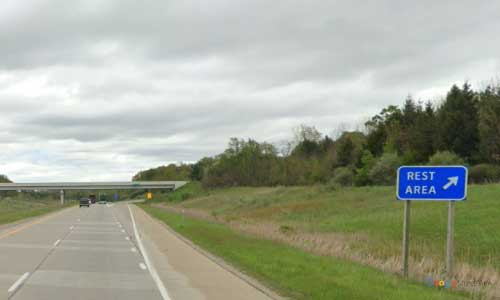 mi interstate 69 michigan i69 five lakes rest area mile marker 161 eastbound off ramp exit