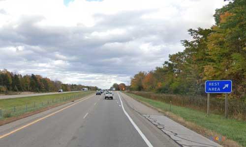 mi interstate 69 michigan i69 swartz creek rest area mile marker 126 eastbound off ramp exit