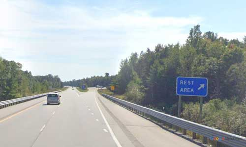 mi interstate 75 michigan i75 alger rest area mile marker 202 southbound off ramp exit