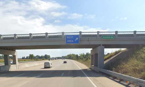 mi interstate 75 michigan i75 bay city rest area mile marker 158 southbound off ramp exit