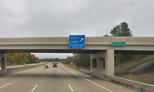 mi interstate 75 michigan i75 clio rest area mile marker 129 northbound off ramp exit