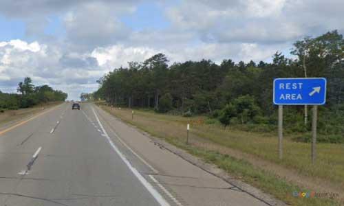 mi interstate 75 michigan i75 grayling rest area mile marker 252 northbound off ramp exit
