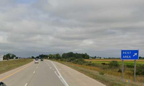 mi interstate 75 michigan i75 linwood rest area mile marker 175 northbound off ramp exit