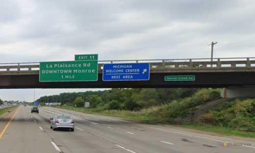 mi interstate 75 michigan i75 monroe welcome center rest area mile marker 10 northbound off ramp exit