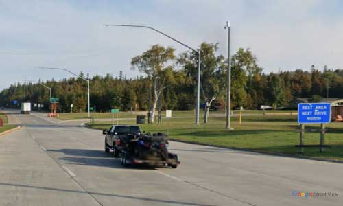 mi interstate 75 michigan i75 saint ingnace welcome center mile marker 344 northbound off ramp exit
