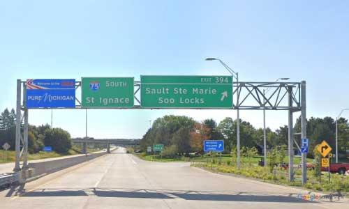 mi interstate 75 michigan i75 sault sainte marie welcome center mile marker 394 southbound off ramp exit