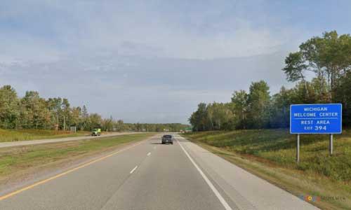 mi interstate 75 michigan i75 sault sainte marie welcome center mile marker 394 northbound off ramp exit