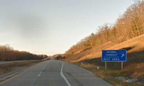 mi interstate 75 michigan i75 topinabee rest area mile marker 317 northbound off ramp exit