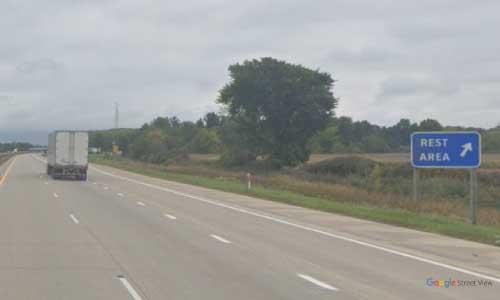 mi interstate 94 michigan i94 adair rest area mile marker 255 eastbound off ramp exit