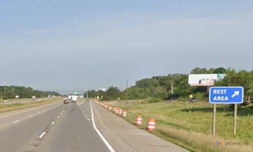 mi interstate 94 michigan i94 belleville rest area mile marker 188 wextbound off ramp exit