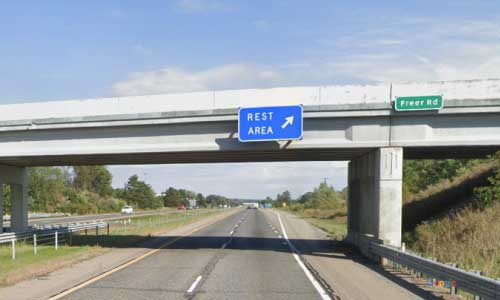 mi interstate 94 michigan i94 chelsea rest area mile marker 161 eastbound off ramp exit