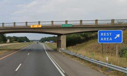 mi interstate 94 michigan i94 marshall rest area mile marker 113 westbound off ramp exit