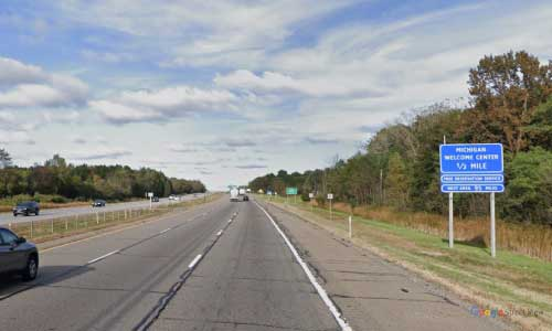 mi interstate 94 michigan i94 new buffalo welcome center mile marker 0 eastbound off ramp exit