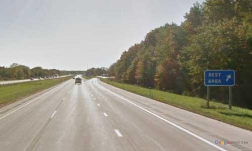 mi interstate 94 michigan i94 richmond-rest area mile marker 250-westbound off ramp exit