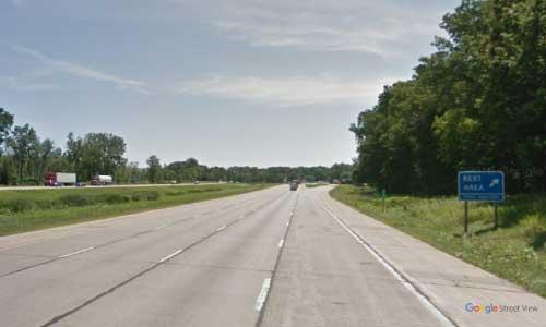 mi interstate 96 michigan i96 howell rest area mile marker 135 eastbound off ramp exit