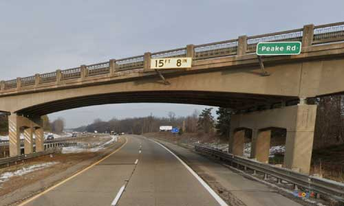 mi interstate 96 michigan i96 portland rest area mile marker 79 westbound off ramp exit