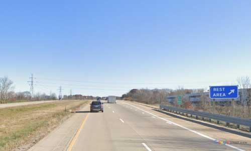 mi interstate 96 michigan i96 walker rest area mile marker 25 eastbound off ramp exit