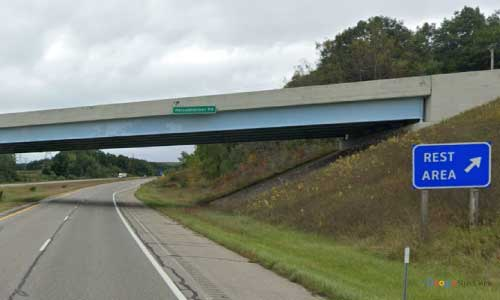 mi us route 31 michigan us31 ludington rest area northbound mile marker 163 off ramp exit