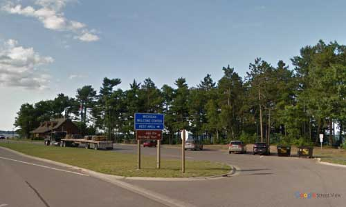 mi us route 41 michigan us41 marquette welcome center bidirectional entrance exit